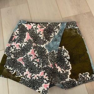 Topshop Colorful Patterned Skort Skirt